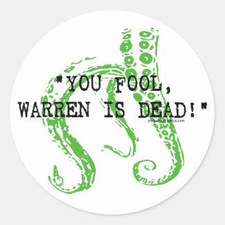 Warren är döda H.P. Lovecraft Runt Klistermärke