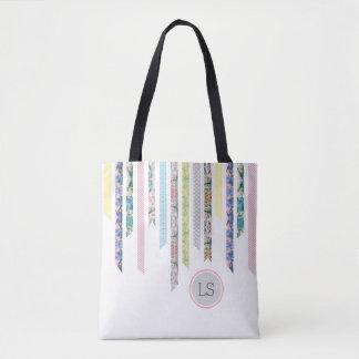 Washi tejpar pastell | DIY & monogramen för Tygkasse