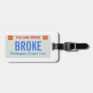 Washington att bry sig inte bagagebricka