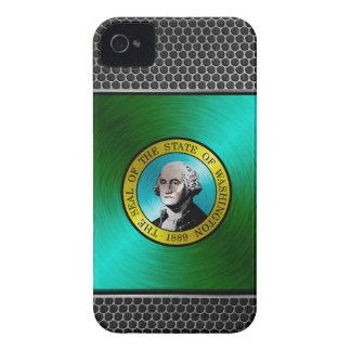 Washington borstade metallflagga iPhone 4 skydd
