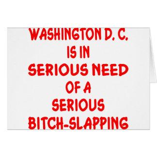 Washington DC-behov som Satkäring-Smällas Hälsningskort
