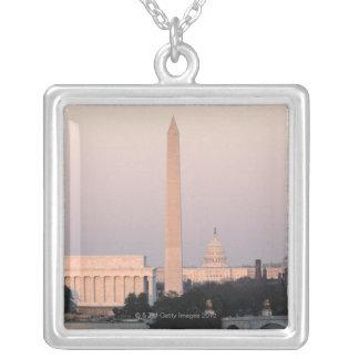 Washington DC-horisont Silverpläterat Halsband