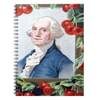 Washington födelsedag anteckningsbok med spiral