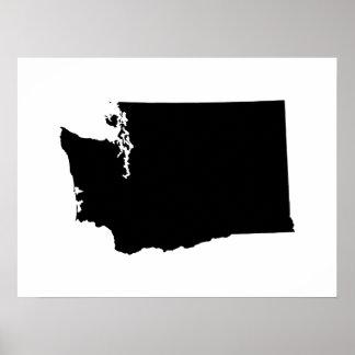 Washington i svartvitt poster