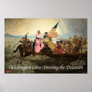 Washington Kor-Dressing den Delaware affischen Poster