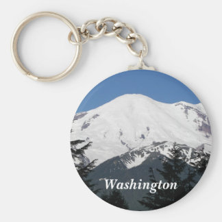 Washington Mount Rainier foto Rund Nyckelring
