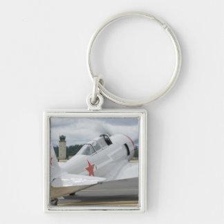 Washington Olympia, militär airshow. 6 Fyrkantig Silverfärgad Nyckelring
