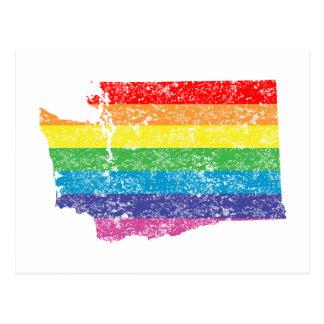 washington regnbåge vykort