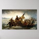 Washington som korsar Delaware - 1851 Affisch