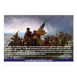 Washington som korsar Delaware #1 Vykort