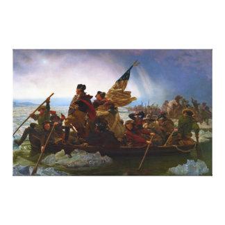 Washington som korsar Delaware av Emanuel Leutze Canvastryck