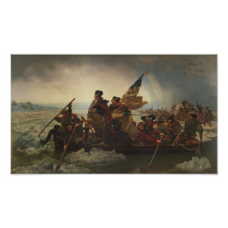 Washington som korsar Delaware måla Poster