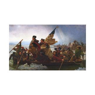 Washington som korsar Delaware - vintageUS-konst Canvastryck