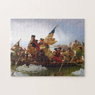 Washington som korsar det Delaware pussel