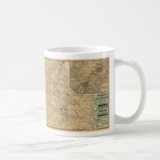 Washington till den Richmond inbördeskrigkartan Kaffemugg