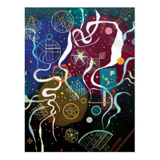 Wassily Kandinsky - abstrakt konst för rörelse en Vykort