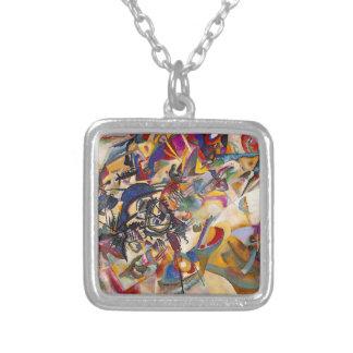 Wassily Kandinsky - abstrakt konst för Silverpläterat Halsband