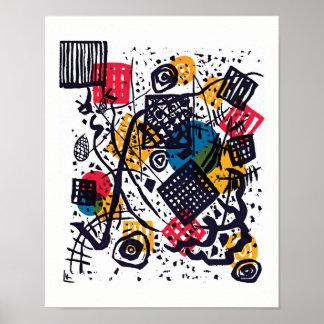Wassily Kandinsky - liten abstrakt konst för Poster