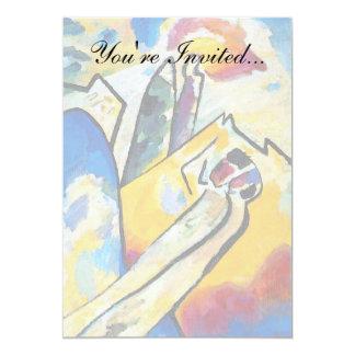 Wassily Kandinsky sammansättning fyra - abstrakt 12,7 X 17,8 Cm Inbjudningskort