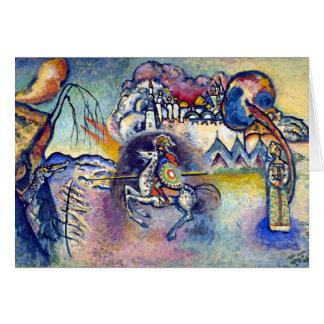 Wassily Kandinsky - St George & skicklig ryttare Hälsningskort