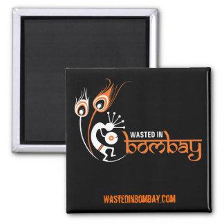WastedInBombay.com kvadrerar magnetorangen Magnet