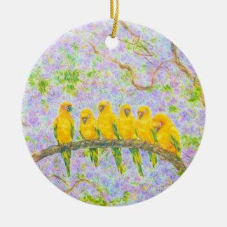 Watchman av familjen julgransprydnad keramik