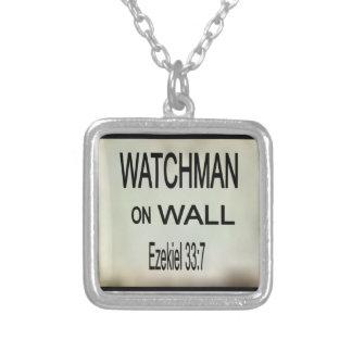 Watchman på vägghalsbandet silverpläterat halsband