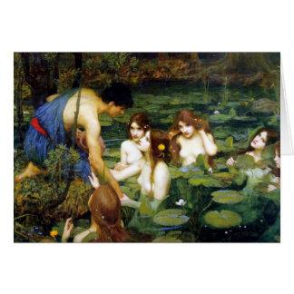 Waterhouse Hylas och Nymphshälsningkortet Hälsningskort