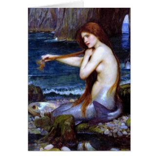 Waterhouse: Sjöjungfrun Hälsningskort