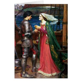 Waterhouse Tristan och Isolde hälsningkort Hälsningskort