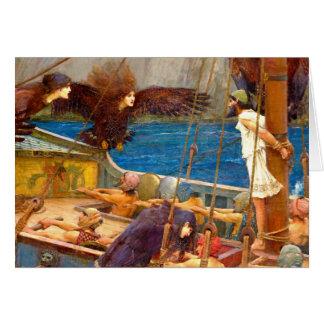 Waterhouse: Ulysses & sirarna (specificera), Hälsningskort