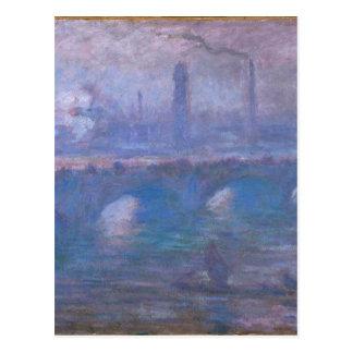 Waterloo överbryggar, den dimmiga morgonen vid vykort
