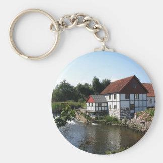 Watermill i Danmark Keychain Rund Nyckelring
