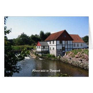 Watermill i Danmark Notecard OBS Kort