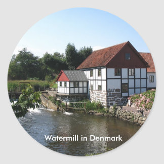 Watermill i den Danmark klistermärken