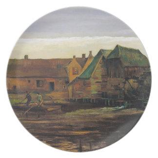 Watermill på Gennep av Vincent Van Gogh Tallrik