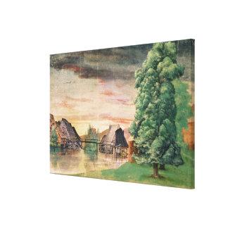 Watermillen, 1495-97 canvastryck
