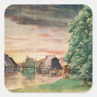 Watermillen, 1495-97 fyrkantigt klistermärke