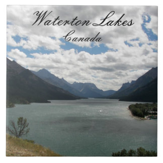Waterton foto för sjöarnationalpark kakelplatta