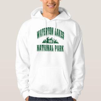 Waterton gammal stilgrönt sweatshirt med luva