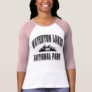 Waterton gammal stilsvart t-shirt