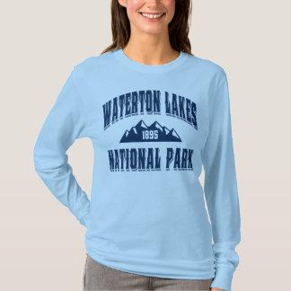 Waterton gammala stilblått t-shirts