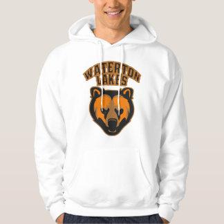 Waterton logotyp för ansikte för sjöarbjörn tröja med luva