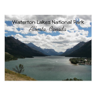 Waterton sjöar, Kanada reser Vykort