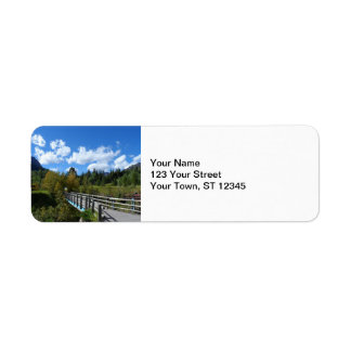 Waterton sjöarnationalpark returadress etikett