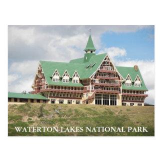 Waterton sjöarnationalpark vykort