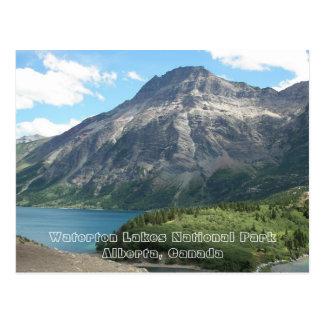Waterton sjöarnationalparken reser vykort