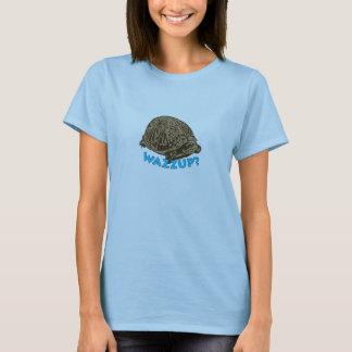 Wazzup - sköldpaddakvinna grundläggande T-tröja Tee Shirts