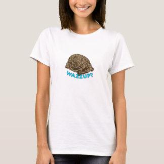 Wazzup - vitkvinna grundläggande T-tröja Tee