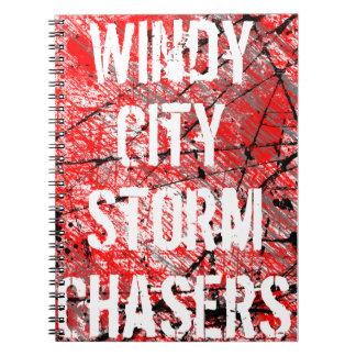 WCSC-grafittianteckningsbok i rött Spiralbundna Anteckningsböcker